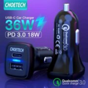 Автомобильное з/у Choetech Quick Charge PD3.0 18W Car Charger